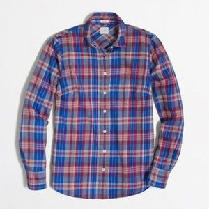 J Crew Factory Perfect Fit Plaid Flannel